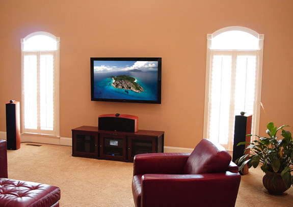 home theater and flat panel lcd plasma tv installation. Black Bedroom Furniture Sets. Home Design Ideas