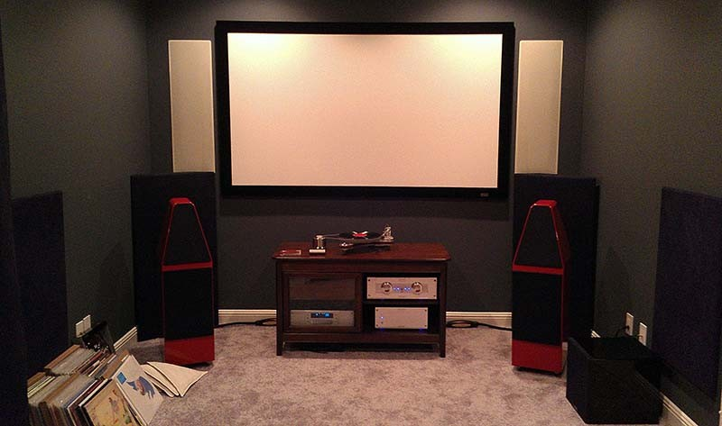 Home Theater With Acoustically Transparent Screen And In Wall Speakers    Mt. Juliet, TN