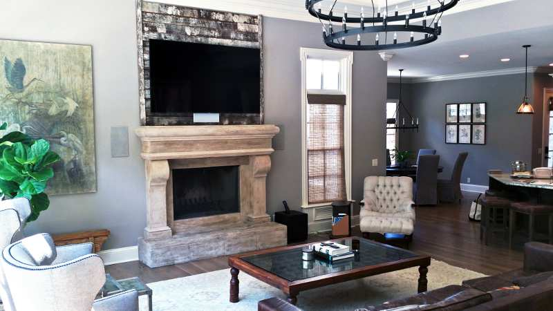 On wall above fireplace tv installation mounting service - Tv wall mount over fireplace ...